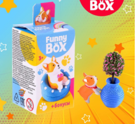 068-3999 Набор для детей Funny Box «Собачки» Набор: радуга, инструкция, наклейки, МИКС