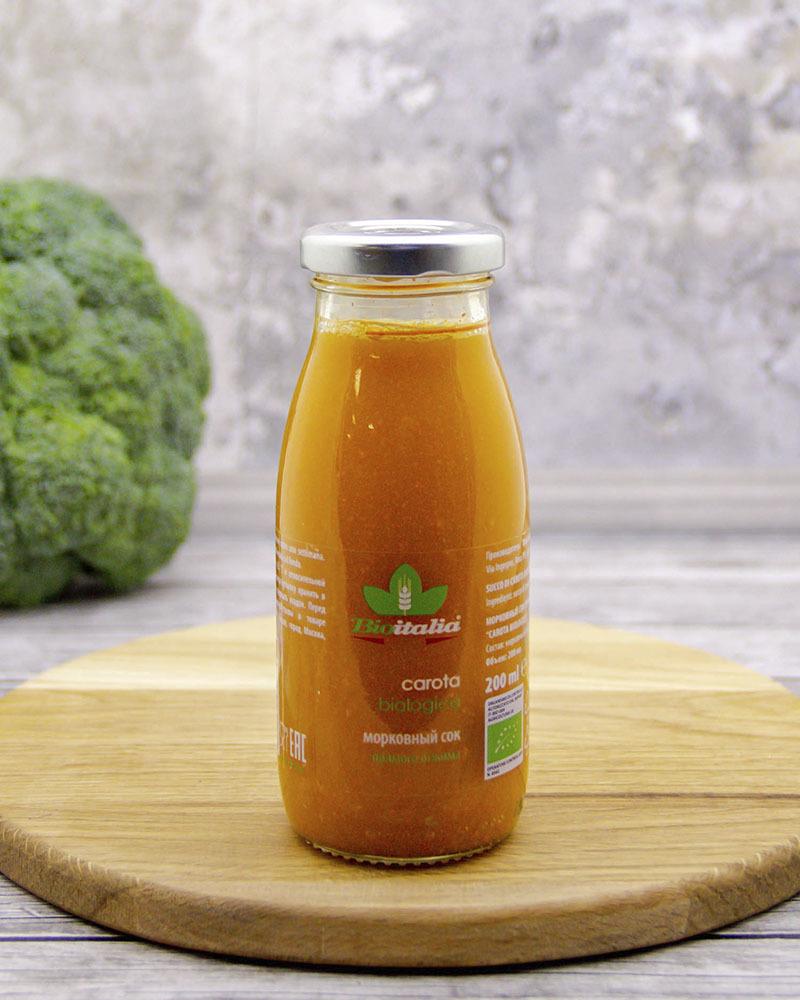 Морковный сок Bioitalia 200 мл.