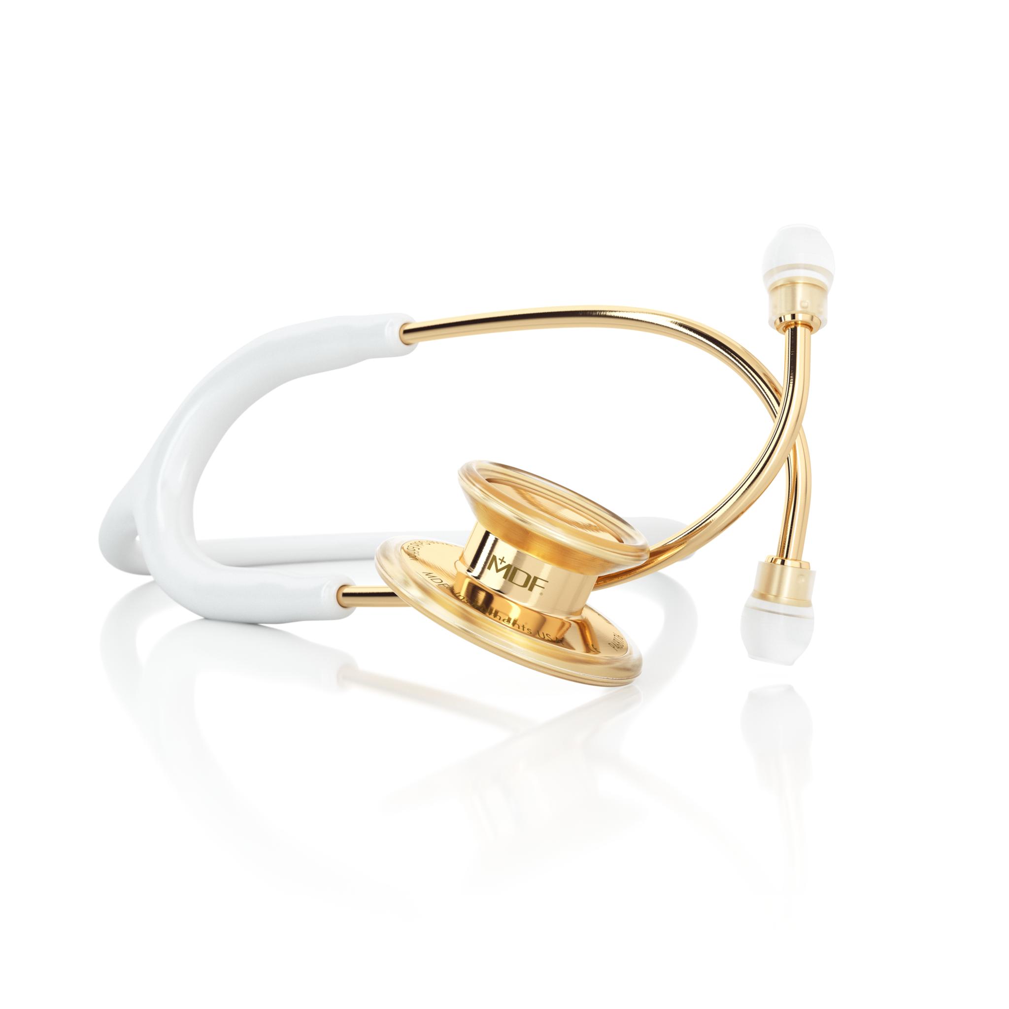 Фонендоскоп MD One (белый, желтое золото)