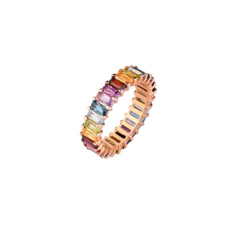 Широкое радужное кольцо-дорожка в позолоте