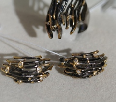 Ледяной дождь  (кольцо + серьги из серебра)