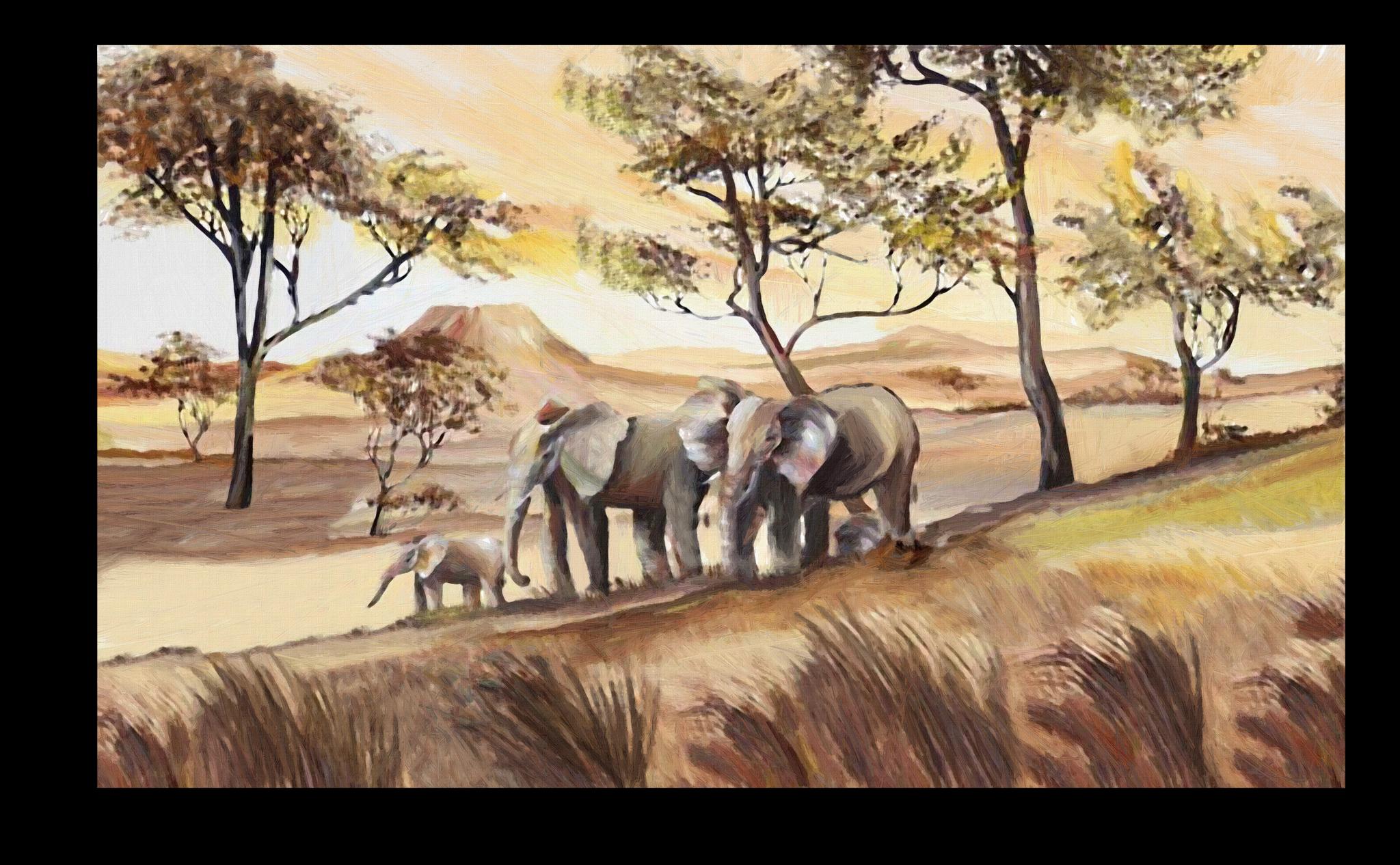 """Постеры Постер """"Семья слонов"""" п29.png"""