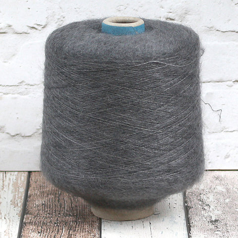 Мохер на шелке SESIA / VIVIENNE 850 темно-серый меланж