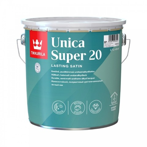 Tikkurila Unica Super 20 / Тиккурила Уника Супер износостойкий уретано-алкидный лак,полуматовый