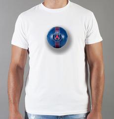Футболка с принтом FC Paris Saint-Germain (ФК Пари Сен-Жермен) белая 001