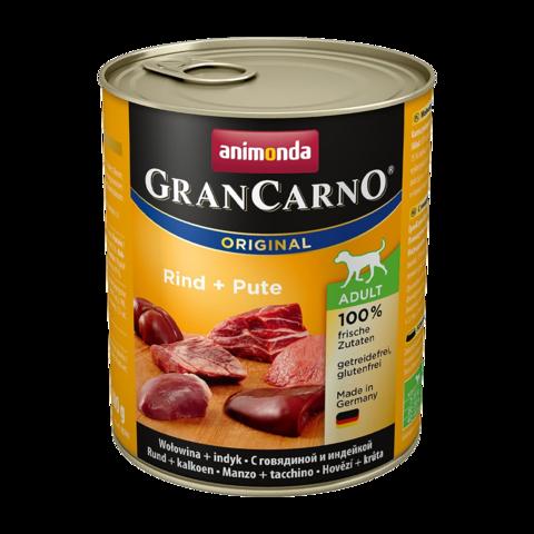 Animonda GranCarno Original Adult Консервы для собак с говядиной и индейкой (Банка)