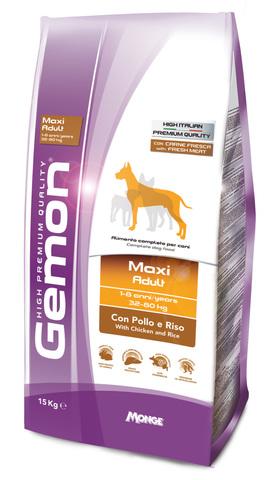 Gemon Dog Maxi Сухой корм для взрослых собак крупных пород с курицек и рисом