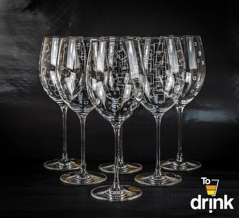 Бокалы для вина, 3x2, «Wintime. Гранд микс», 680 мл