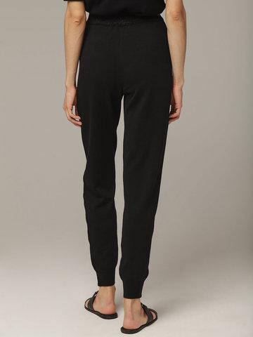 Черные брюки из шёлка и кашемира спортивного силуэта - фото 3
