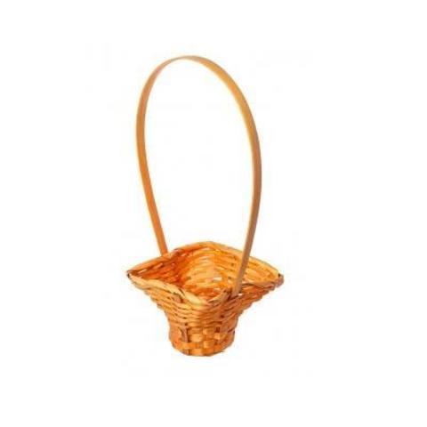 Корзина плетеная, 17х15,5х8,5х32см, оранжевый