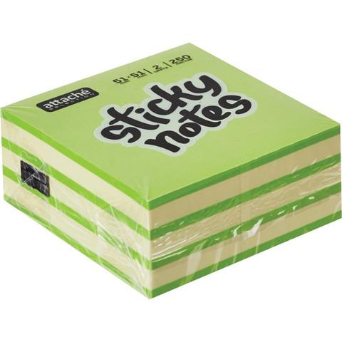 Стикеры Attache Selection 51х51 мм неоновые и пастельные 2 цвета (1 блок, 250 листов)