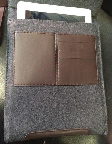 Чехол - Сумка Miracase для планшета ipad 3/4 10 дюймов Войлок с кожей!