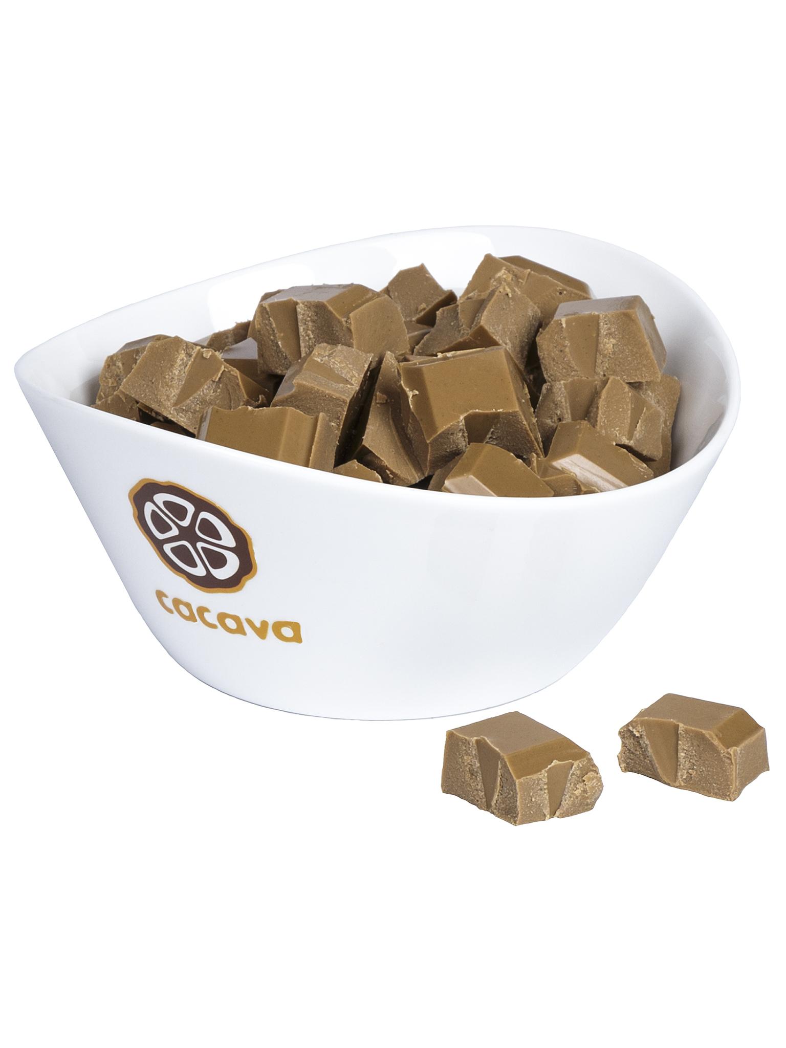 Белый шоколад на кокосовом сахаре, внешний вид