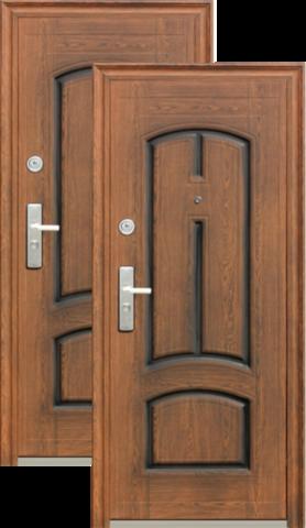 Дверь входная Сибирский Стандарт К705-2, 2 замка, 0,8 мм  металл, (PVC тёмное+PVC тёмное)