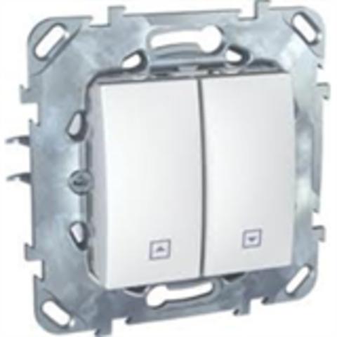 Выключатель для жалюзи без фиксации. Цвет Белый. Schneider electric Unica. MGU5.207.18ZD