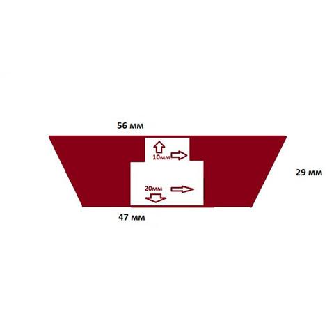 Пробка силиконовая №10 56х47/29 с каналом
