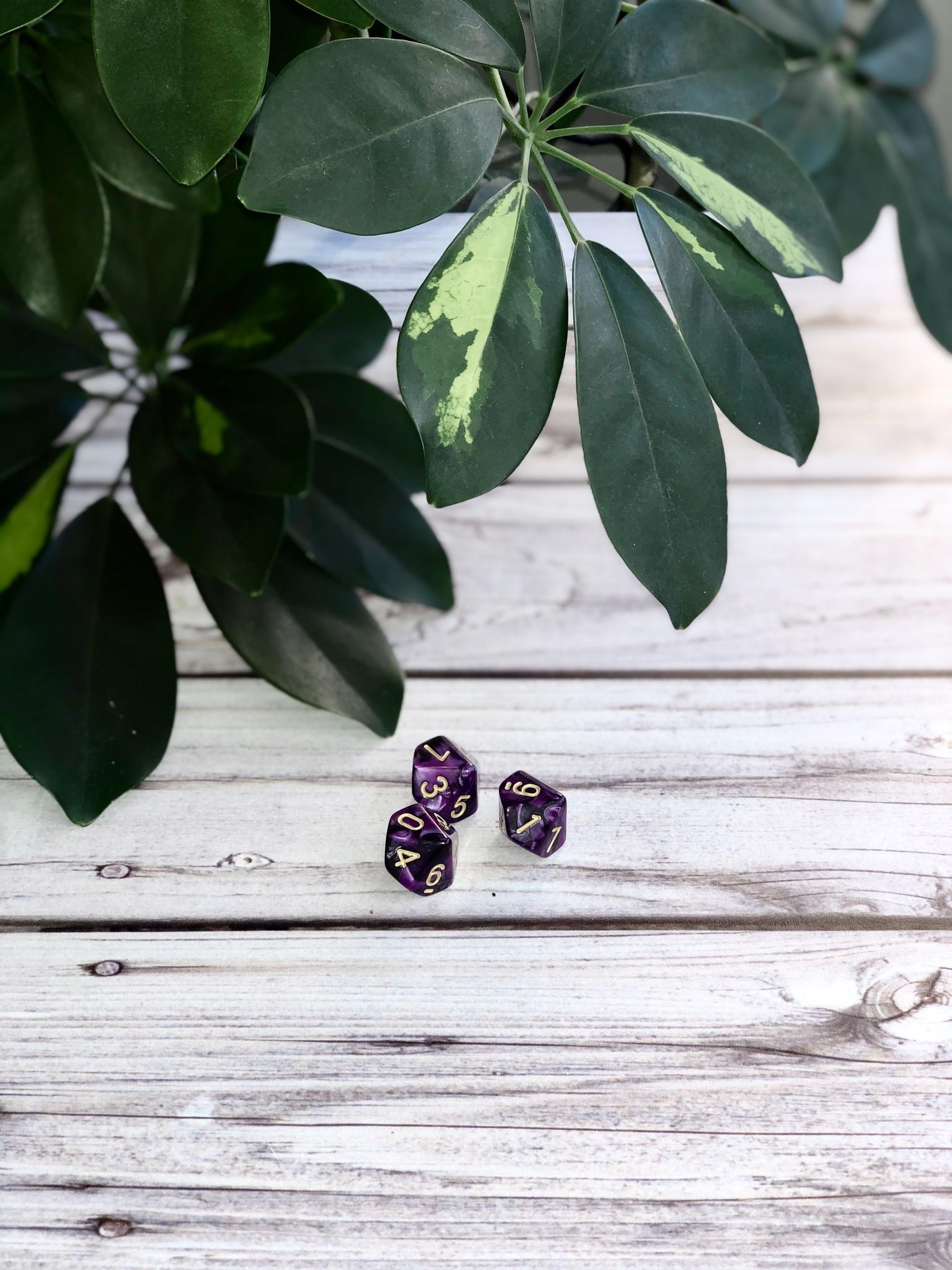 Кубики-вестники черно-фиолетовые