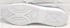 Женские летние туфли кроссовки с белой подошвой sport casual Wollen P029-2096-24 Blue White.