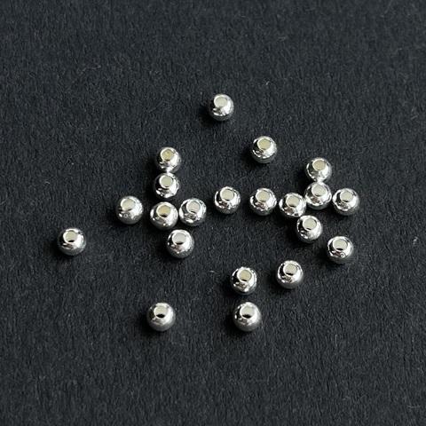 Бусина гладкий шарик 2,5 мм серебро 925