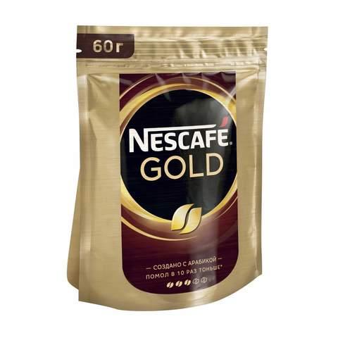 Кофе Nescafe Gold растворимый 60г