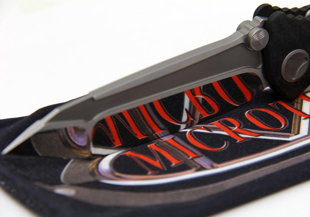 Нож Custom Microtech Marfione Socom Delta Tanto Knife Carbon Fiber (High Polish) - фотография