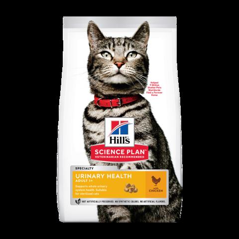 Hill's Science Plan Urinary Health Chicken Сухой корм для взрослых кошек склонных к мочекаменной болезни с Курицей