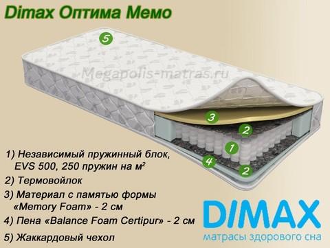 Матрас Dimax Оптима Мемо от Мегаполис-матрас