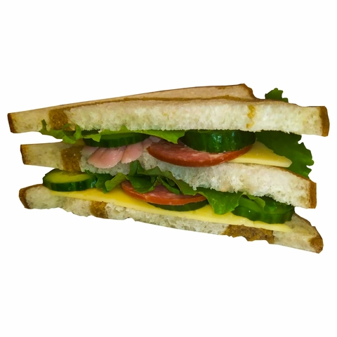 Сэндвич тостерный с колбасой и сыром 1 кг