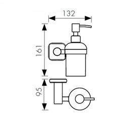 Дозатор для жидкого мыла настенный Kaiser Vera KH-1710 схема