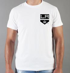 Футболка с принтом НХЛ Лос-Анджелес Кингз (NHL Los Angeles Kings) белая 006