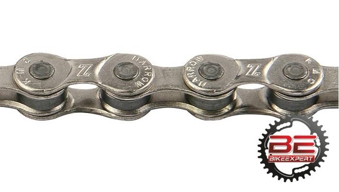 Велосипедная цепь КМС Z8.3 silver/silver