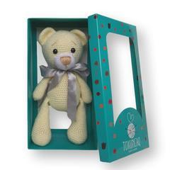 Yumşaq oyuncaq Krem rəngli ayıcıq, lentli TXQ-10211