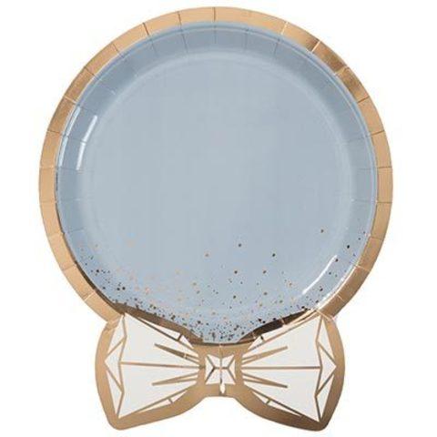 Тарелки фигурные Свадьба Luxe Grey 6шт