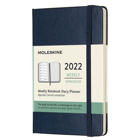Еженедельник Moleskine (DHB2012WN2) Classic WKNT Pocket 90x140мм 144стр. синий сапфир