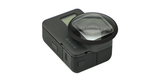 Макролинза PolarPro для HERO5 Black и HERO6 Black на камере вид сбоку