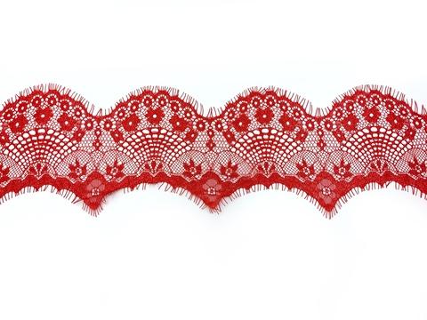 Кружево реснички красное (10*300 см)