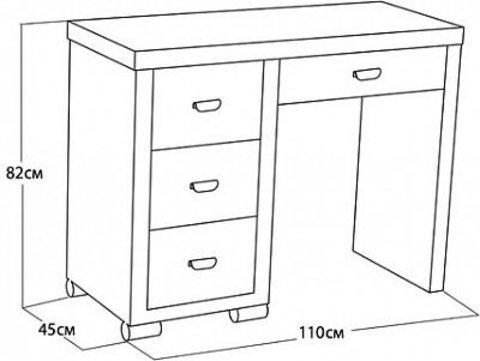 Туалетный стол OrmaSoft-2 (4 ящика) левосторонний