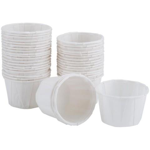 Капсулы для капкейков усиленные,  белые, 50х30 мм, 100 шт