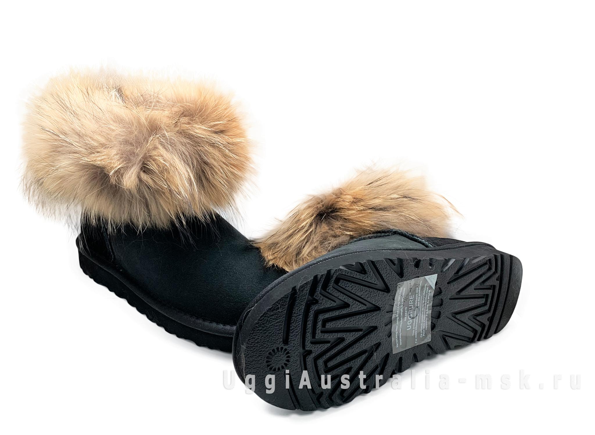 UGG Fox Fur Black