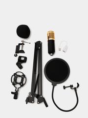 Конденсаторный студийный микрофон USB для стрима и трансляций