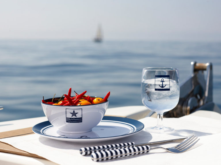 MELAMINE TABLEWARE 6 PEOPLE, SEA LOVERS