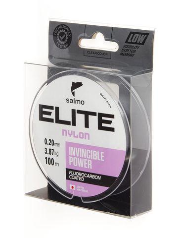 Леска монофильная SALMO Elite Fluoro Coated Nylon, 100 м, 0,20 мм, прозрачная