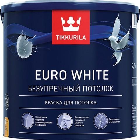 Tikkurila Euro White / Тиккурила Евро Уайт глубокоматовая краска для потолка