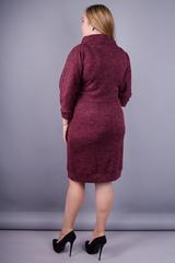 Єва. Жіноча сукня великих розмірів. Бордо.