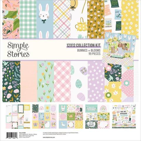Набор двусторонней бумаги 30х30 см Simple Stories Double-Sided Paper Pad - Bunnies & Blooms