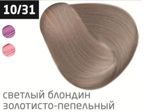 OLLIN performance 10/31 светлый блондин золотисто-пепельный 60мл перманентная крем-краска для волос