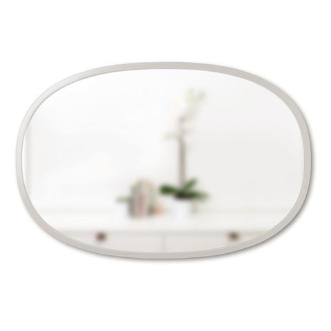 Зеркало овальное Hub 61 х 91 см серое