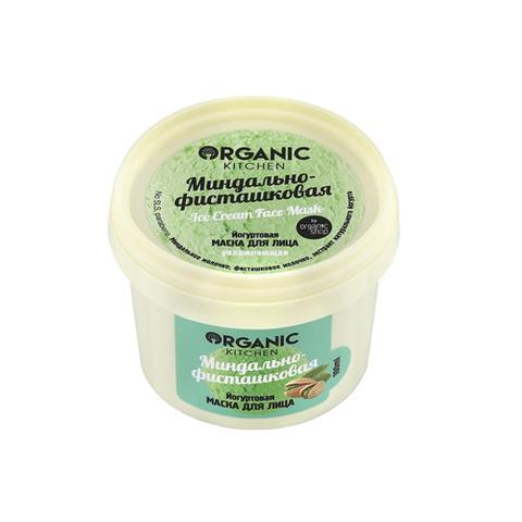"Маска йогуртовая для лица ""Миндально-фисташковая"" | 100 мл | Organic Kitchen"