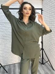Костюм хаки с рубашкой и брюками интернет магазин