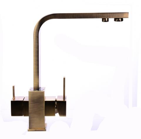 Смеситель для кухни под осмос Globus Lux GLLR-0111-9-BRONZE